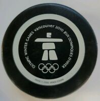 2010 OLYMPIC WINTER GAMES VANCOUVER ICE HOCKEY PUCK RARE SIDNEY CROSBY WAS THERE