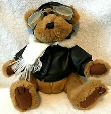 Pickford Sears Radar Teddy Bear Pilot Aviator Stuffed Brass Button Brown NWOT