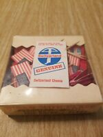 VINTAGE SET of Switzerland Genuine Cheese Picks w/ Flags Rare!