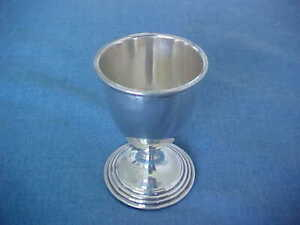 VINTAGE REED & BARTON STERLING SILVER EGG CUP N34 FOR YOUR SOFT-BOILED EGG 1942