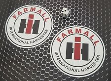 International Harvester Farmall Stickers x 2  Tractor Agriculture Decals 100mm