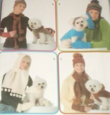 3975 Simplicity Dog Hats Coats sizes XS S M Womens Hats Scarves Neck Warmer
