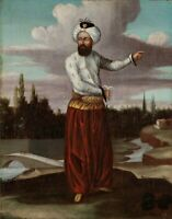 """oil painting handpainted on canvas """"A Chaous, a Courier to the Sultan """""""