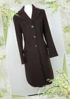 Vintage Laura Ashley Coat Size 14 Brown Wool mix Button Up Traditional Smart VGC