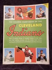 VERY RARE 1955 Cleveland Indians Golden Stamp Book & Stamps, VERY CLEAN!!