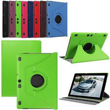 "Per 10.1"" Lenovo Tab 2 A10-70F Tablet 360° Flip Folio Custodia Cover In Pelle"