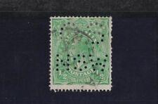 1915 Aust KGV 1/2d green single wmk SG O38 OS NSW perfin fine used