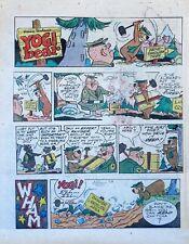 Yogi Bear - Hanna-Barbera TV - large full tab page Sunday comic - Jan. 5, 1975
