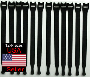 VELCRO Brand ONE-WRAP Thin Ties Cable Cord Organizer Reusable Straps - 12 Pcs.