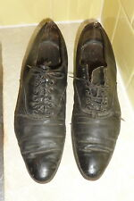 Old antique Vintage Womans Iie Shoes black leather AA62805-10 N7