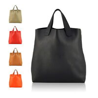 Women Genuine Leather Large Tote Bag Designer Handbag Shoulder Cabas Shopper