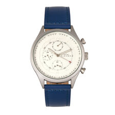 Elevon Lindbergh Men's Blue Leather Band Watch with Day Date ELE102-2