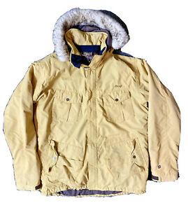 Orage Alaskan Snow Ski Snowboard Insulated Jacket mens size Large Tan with fur