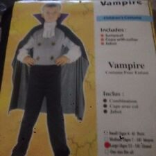 LARGE  Kids Vampire Dracula Boys Childrens Halloween Party Fancy Dress Costume