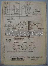 NORDMENDE Bildmustergenerator 955 Abgleichplan Trägergenerator 956 Schaltplan
