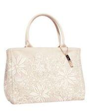 Women's Oscar de La Renta Floral Coated Canvas Tote Bag Neiman Marcus Target NWT