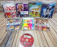 PS3 LOT 8 Games - 4 New - 4 Used - Disney Sing It, Sing Star, Michael Jackson