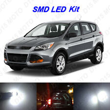 6x Xenon White LED Interior Bulb+ License Plate Lights For 2013-2016 Ford Escape
