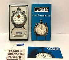 Vintage Leonidas Trackmaster Complete in Box Model 8047 Chrome Stop Watch