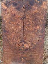 Laurel Eye Burled Knife Scales/Grips; 6.750 x 2.190 x .260+ in. ea.