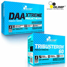 DAA 60 TAB & TRIBUSTERON 120 CAPS STRONG LEGAL TESTOSTERONE BOOSTER LOW ESTROGEN