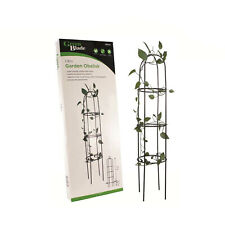 More details for 1.9m outdoor garden metal obelisk climbing plant support frame trellis new