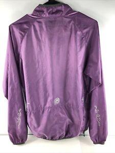 Novara Packable Nylon Windbreaker Cycling Jacket - Purple L