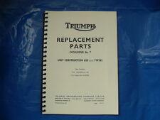 Triumph T120, TR6, livre de pièces pour modèles 1969