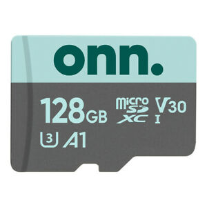 onn. microSDXC Card Micro Sd 128GB Capacity w/ Adapter Magnet Proof High Quality