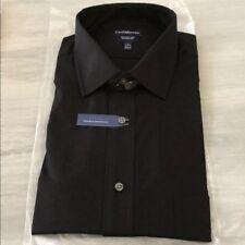 NEW! Men's Croft & Barrow Classic-Fit Point-Collar Black Dress Shirt  17 34/35
