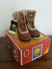 John Deere By Dan Post Children's Boots Rust Suede w/Shearling Size 13M