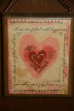 """New listing Handmade Valentine """"Heart"""" Picture """"Lives Are Filled With Happiness."""""""