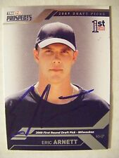 ERIC ARNETT signed BREWERS 2009 Tristar Prospect Plus baseball card AUTO INDIANA