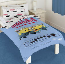 Despicable Me Minions Undercover Single Panel Duvet Cover Bed Set New Gift