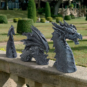 Dragon Garden Decor Statue Large Dragon Gothic Resin Ornament for Outdoor Decor