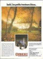 Tracteur Iseki bleu Yvan Béal Advertising Publicité AD Vintage Années 70'