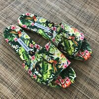 Tabitha Simmons Womens Ivy Green Slide Sandals Floral Shoes Made in Italy 39 1/2