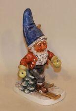 1972 Goebel Co-Boy Gnome Figurine Toni The Skier Well 522 TMK-5 (No Poles)