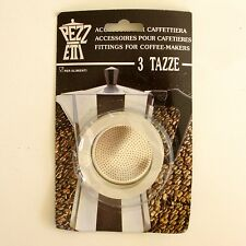 3 Joints + Filtre pour cafetière Italienne 3 tasses - PEZZ ETTI -