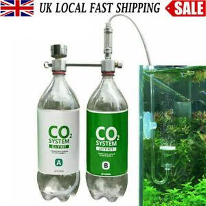 CO2 Generator for Plants Aquarium DIY CO2 Kit Pressurized with Bubble Counter UK