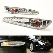 2x Clear Chrome Front Side Marker Light For 2003-2006 W211 E-Class E320 E500 E55