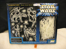 Star Wars Episode I Illuminations Glow In The Dark BATTLE ZONE Wall Scenes NEW