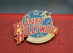 Planet Hollywood San Antonio Gold Tone Metal & Enamel Lapel Pin Pinback