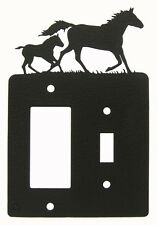 Mare & Foal Horse Metal Single Switch & Gfci Rocker Light Switch Plate Cover