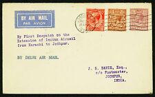 1929-30 LONDON TO JODHPUR VIA 1ST DISPATCH ON EXT. FROM KARACHI  (ESP#1931)