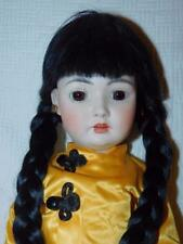 "Reproduction Simon & Halbig #1329 Oriental Child All Bisque Doll 20"" Tallt"
