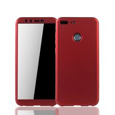 Huawei Honor 9 Lite Cellphone Case Protective Full-Cover Armor Glass Red