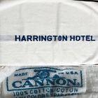 Vintage Hotel Harrington Bath Towel Cotton Collectible Advertising ~ CANNON