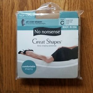 No Nonsense Great Shapes Pantyhose Color Midnight Beige Mist C  Up To  6' / 220