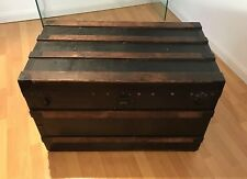Vintage Louis Vuitton Trunk Circa 1903 in Beech Canvas Design